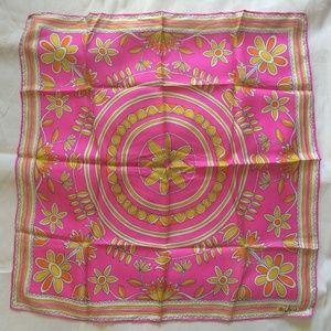 Vera Neumann Silk Scarf Hot Pink Summer Scarf